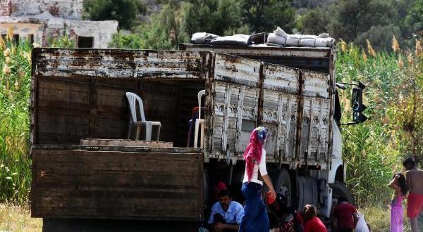 Bodrum'da Plaja Kamyonla Gelenler Mülteci Sanıldı