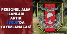 TSK Personel Alım İlanları Artık İŞKUR 'da Yayımlanacak