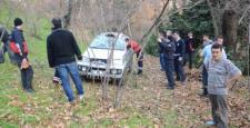 Zonguldak'ta Şok Kaza 20 Metreden Bahçeye Uçtu