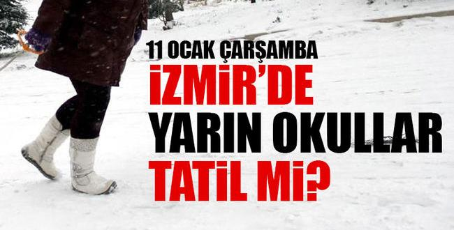 Son Dakika İzmir'de Okullara Kar Tatili Olacak Mı?