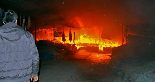 Kahramanmaraş'ta korkutan yangın
